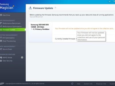 Samsung: nada de actualizar el firmware de tu SSD si no dejas que recolecten tus datos