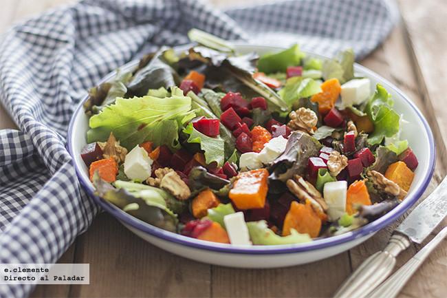 Ideas de platos sanos para recibir el oto o con pocas calor as - Ensaladas con pocas calorias ...