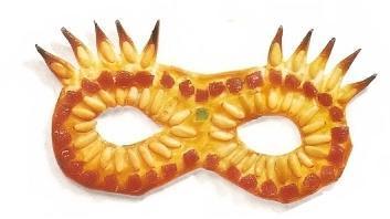 Máscaras de carnaval comestibles