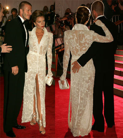 Los Beckham en la Gala del Costume Institute