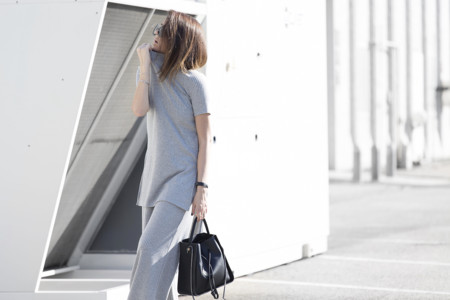 Tailored Grey Minimalist Outfit Blogger Italiane Nicoletta Reggio 09