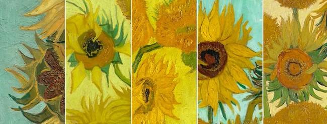 Girasoles de Van Gogh en Facebook