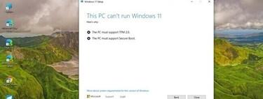 La última Build de Windows 11 está ofreciendo un mensaje de error en algunos equipos que no cuentan con chip TPM 2.0