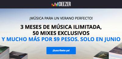 Deezer alza la mano y también lanza un paquete de tres meses de Premium por 9 pesitos