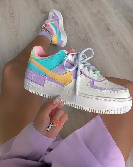 zapatillas nike mujer air force 1 pastel