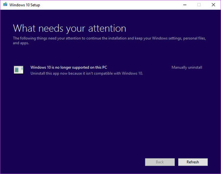 Windows 10 Is No Longer Supported