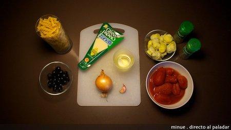 Pasta con alcachofas - ingredientes