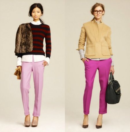 pantalones rosas j crew