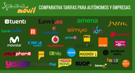 Comparativa tarifas para autónomos y pequeñas empresas con ADSL o fibra + móvil