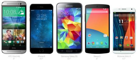 Comparativa iPhone 6 con Samsung Galaxy S5