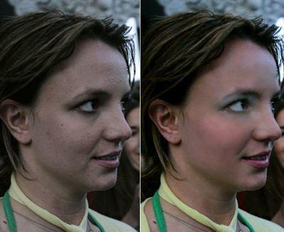 Britney, con y sin (photoshop)