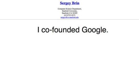 La imagen de la semana: El Currículum de Sergei Brin