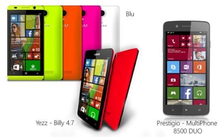 Microsoft presenta nuevos teléfonos Windows Phone de Blu, Prestigio y Yezz