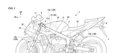 Honda ha patentado un chasis con piezas de fibra de carbono sobre el esquema de una Honda CBR600RR