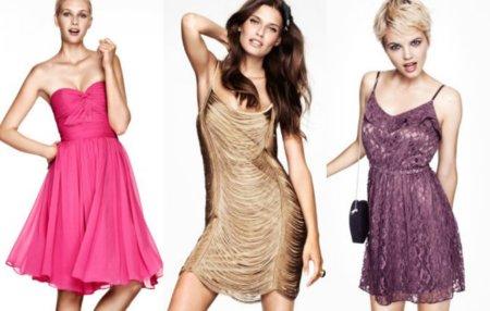 vestidos cortos fiesta H&M