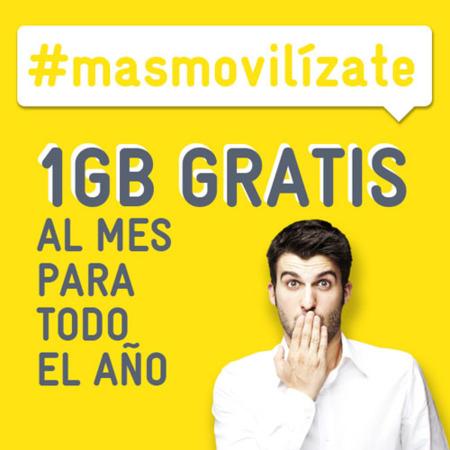 MÁSMÓVIL regala dos premios de consumo de datos de 1 GB mensual durante un año, así que #masmovilizate [finalizado]