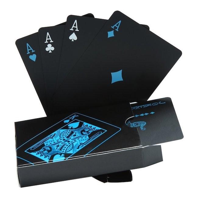 Cartas de póquer impermeables