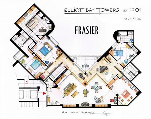 Foto de Planos de apartamentos de series de TV (2/17)