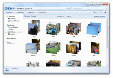 Librerias agrupadas en Windows 7