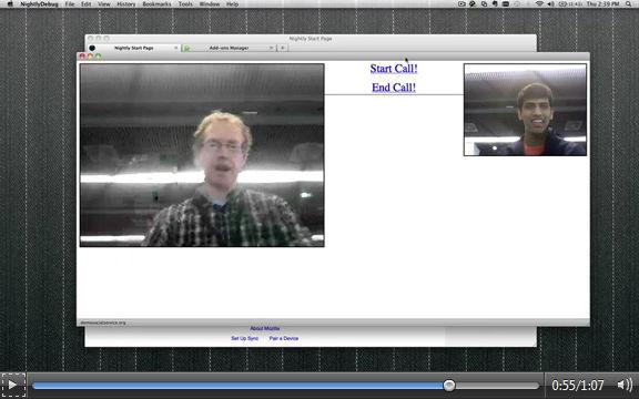 Mozilla vídeo llamada WebRTC