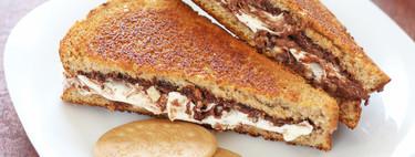 Sandwiches de nutella y malvavisco. Receta