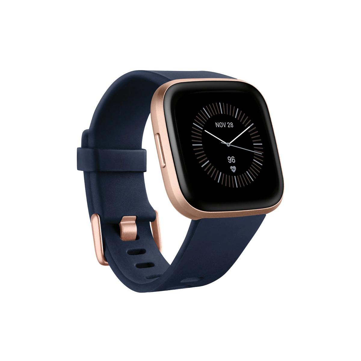 Fitbit Versa 2 SE NFC Azul y Rosa/Aluminio Rosa Cobre Smartwatch. Incluye correa adicional gratis