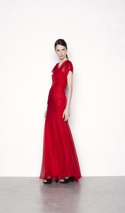 Vestido rojo encaje purificacion garcia