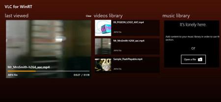 La versión para Windows 8 de VLC sigue en desarrollo y muestran sus primeras capturas