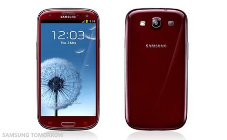 Galaxy SIII rojo