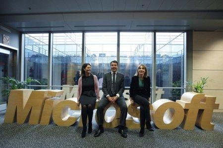 Ignacio González con Microsoft