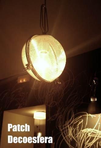 Hemos visto... una lámpara con coladores