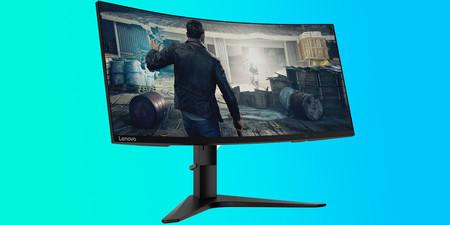 Precio mínimo histórico para el monitor gaming de Lenovo por 499,98 euros en Amazon: curvo, 144 Hz y compatible con AMD FreeSync