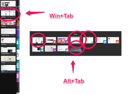 Windows 8 Win Tab Vs Alt Tab Skitch