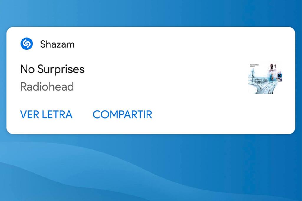 Cómo identificar canciones con Shazam desde las notificaciones del móvil