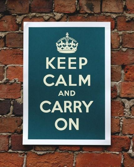 "El poster original de ""Keep calm and carry on""."