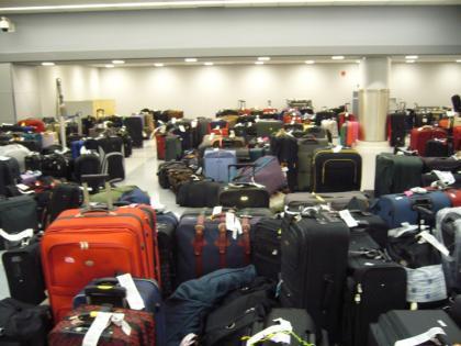 ¿Dónde va el equipaje perdido ?