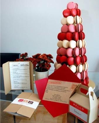Una torre de macarons