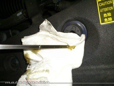 Limpiar la varilla de aceite