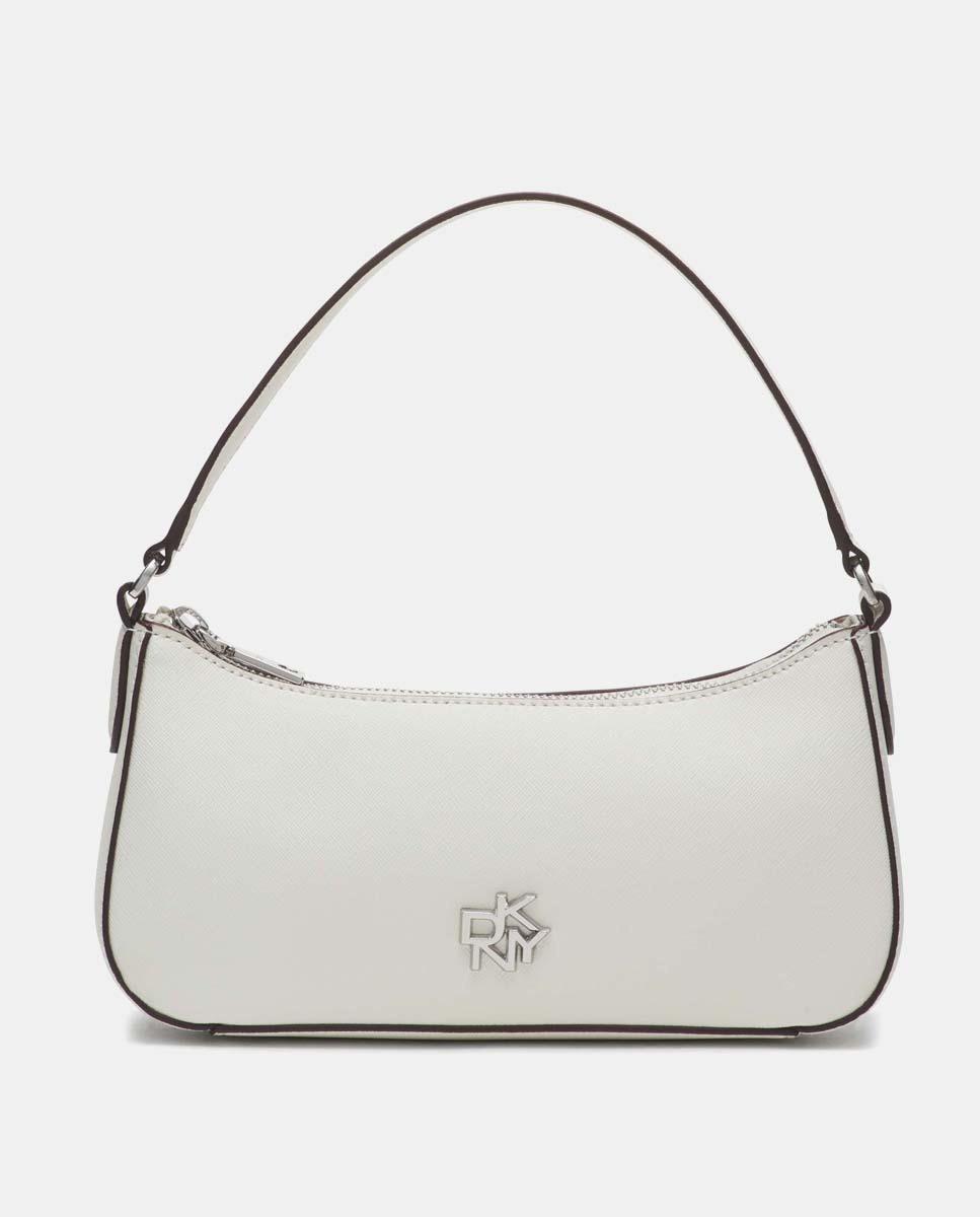 Bolso de piel blanco DKNY