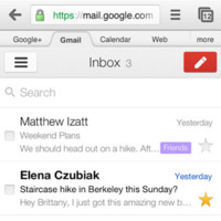 La versión web móvil de Gmail se rediseña