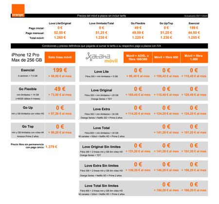 Precios Iphone 12 Pro Max De 256 Gb A Plazos Con Tarifas Orange