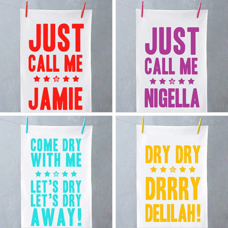 Original Just Call Me Tea Towel