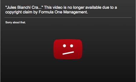 ¿De quién es un vídeo que sacas en un circuito de F1? El caso del accidente de Bianchi