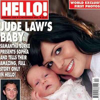 Jude Law y Samantha Burke