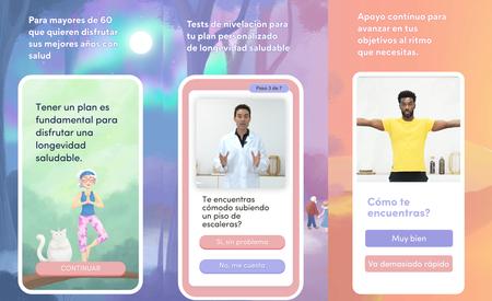 Varias capturas de pantalla de la aplicación Rosita.