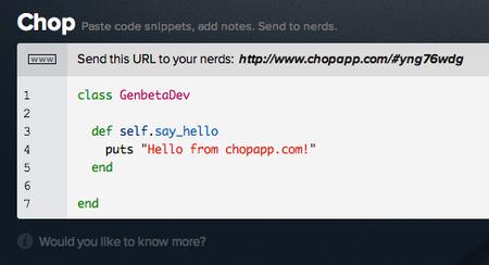 Chop code