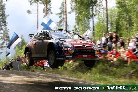 Sébastien Loeb logra una impresionante victoria en el Rally de Finlandia
