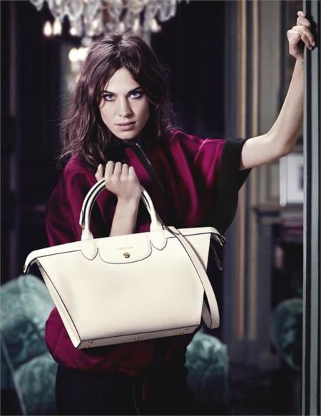 Alexa Chung campaña Longchamp Otoño/Invierno 2014-2015