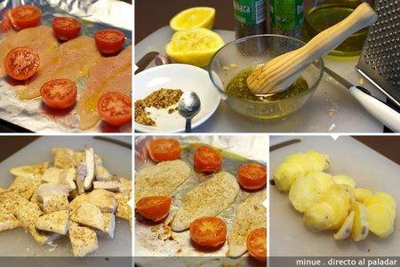 ensalada italiana de pollo - elaboración