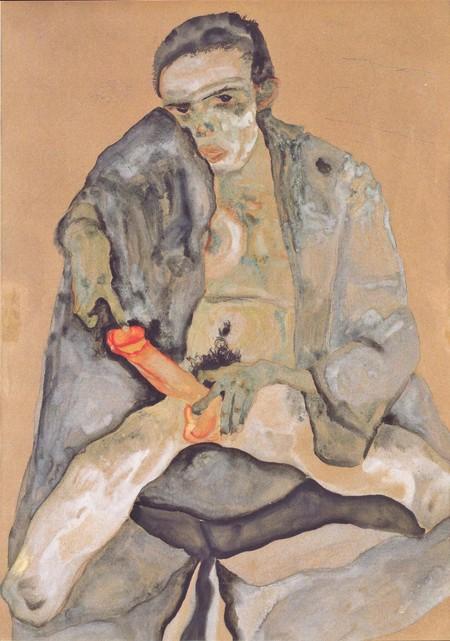Eros por Egon Schiele.
